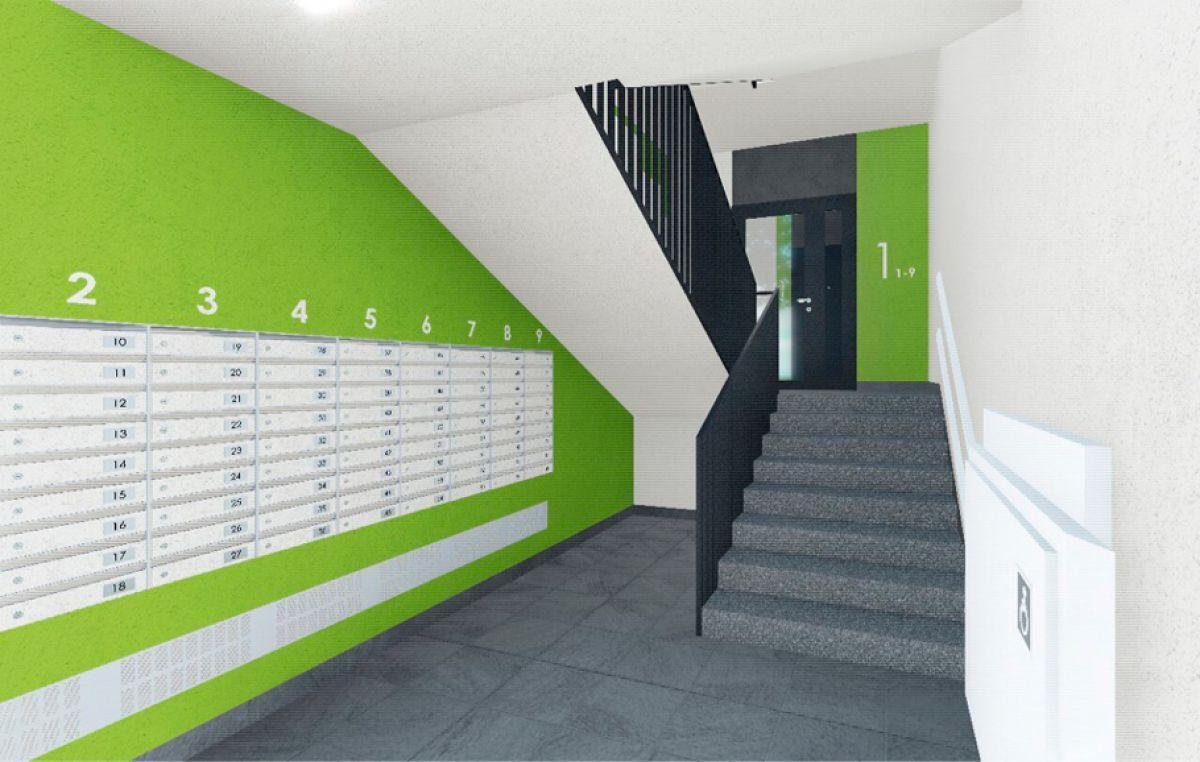 Крупные стикеры с нумерацией этажей в ЖК Надежный