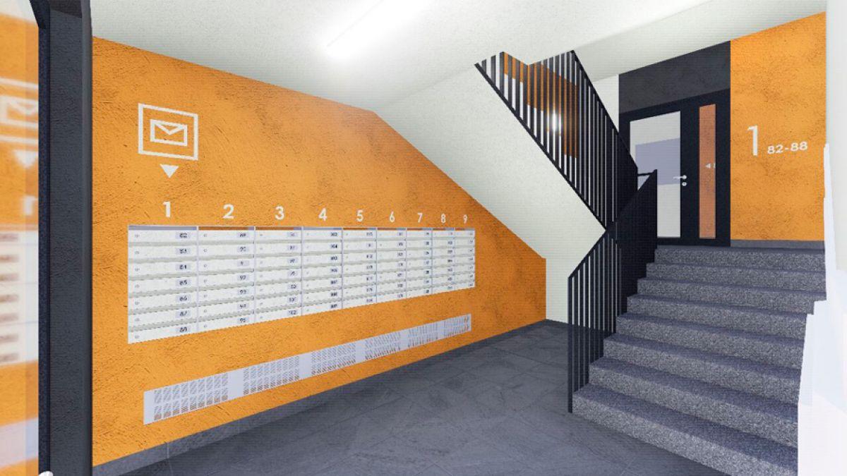 Крупные стикеры с нумерацией этажей в ЖК Надежный - 1