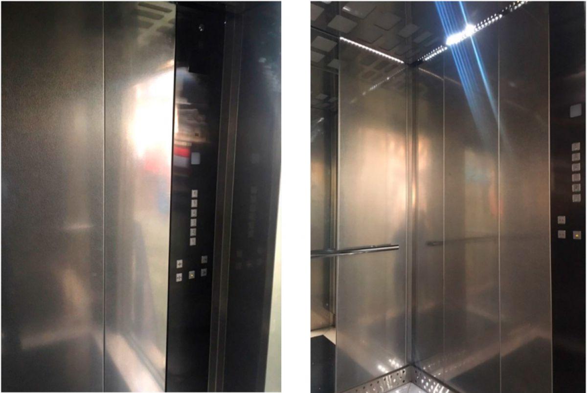 Лифты из нержавеющей стали в Могилевском лифтовом заводе по специальному заказу ООО Лидер для ЖК Надёжный